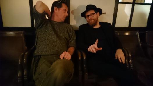 Wulf & Alex before the gig